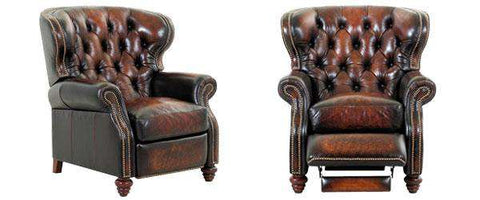 "Arthur ""Ready To Ship"" Tufted Chesterfield Leather Recliner"