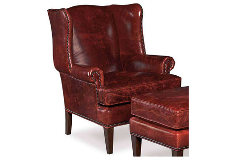 "Arvin ""Quick Ship"" Leather Wingback Accent Chair"