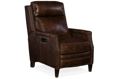 "Asbury Allman Dual Power ""Quick Ship"" Transitional Leather Recliner"