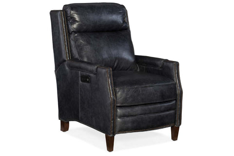"Asbury Oldham Dual Power ""Quick Ship"" Transitional Leather Recliner"