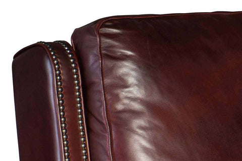 "Living Room Furniture Recliner Chairs Leather Ashcroft ""Quick Ship"" Pillow Back Leather Recliner Chair"
