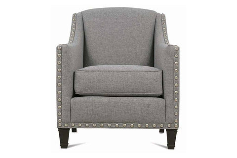 "Lexi ""Designer Style"" Fabric Upholstered Accent Chair w/ Nailhead Trim"