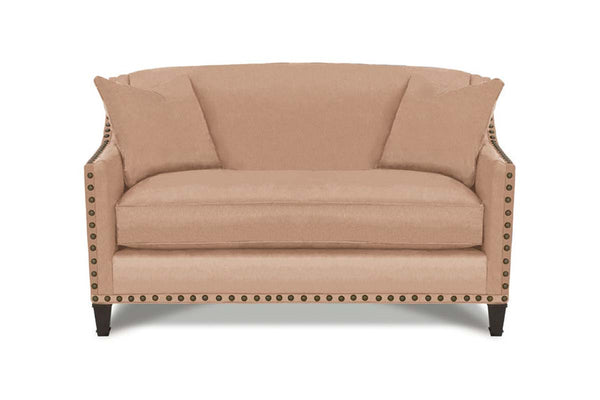 "Austin ""Designer Style"" Fabric Settee With Accent Nails"