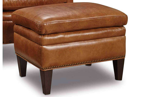 "Baker ""Quick Ship"" Leather Tight Back Accent Chair"