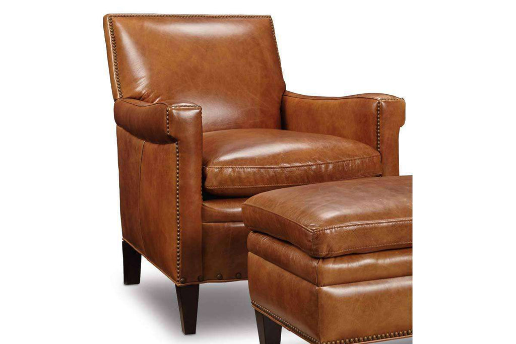 Pleasant Baker Quick Ship Leather Tight Back Accent Chair Club Ibusinesslaw Wood Chair Design Ideas Ibusinesslaworg
