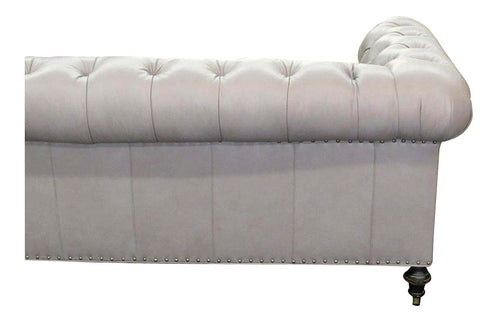 Barrington 84 Inch Leather Tufted Sleeper Sofa