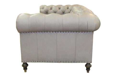 Barrington 84 Inch Leather Chesterfield Sofa For Apartments