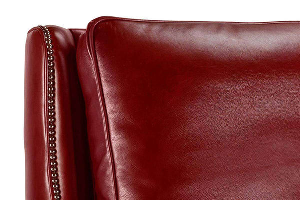 "Barry Robe ""Quick Ship"" Red Leather Recliner"