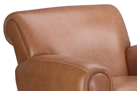 Baxter Parisian Style Leather Club Chair