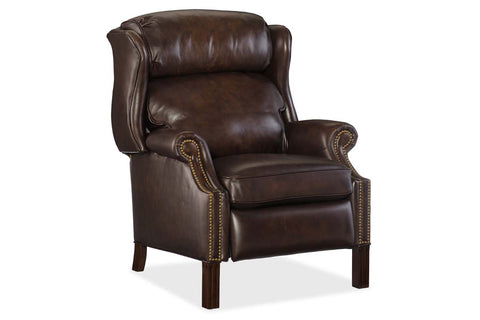 "Bayer Vortex ""Quick Ship"" Traditional Leather Bustle Back Recliner"