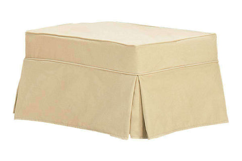 Bella Slipcover Ottoman - Club Furniture