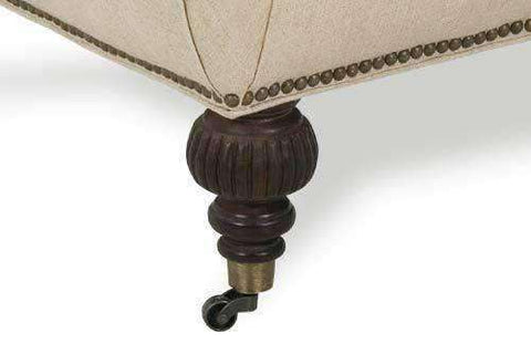 Belle Fabric Tufted Ottoman Coffee Table With Caster Legs - Club Furniture