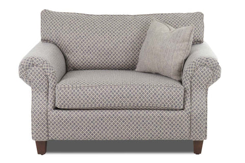 "Bernard ""Custom Value"" Traditional Roll Arm Large Fabric Upholstered Chair"