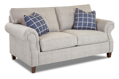 "Bernard ""Custom Value"" Traditional Roll Arm Two Seat Fabric Loveseat"