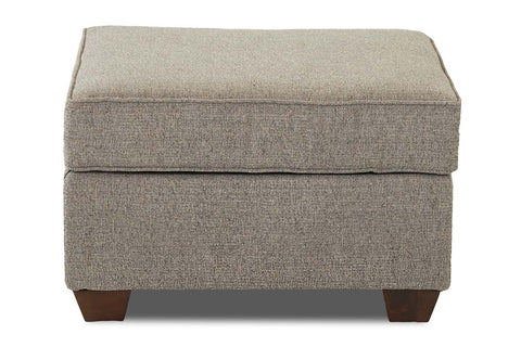 "Bernard ""Custom Value"" Traditional Fabric Upholstered Footstool Ottoman"