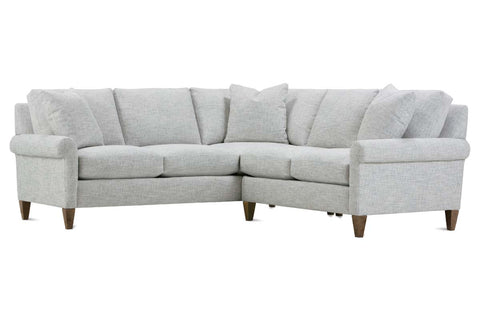 "Beverly ""Designer Style"" Transitional Rolled Arm Fabric Sectional"