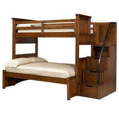 Cody Boys Bedroom Twin Over Full Bunk Bed With Storage Steps