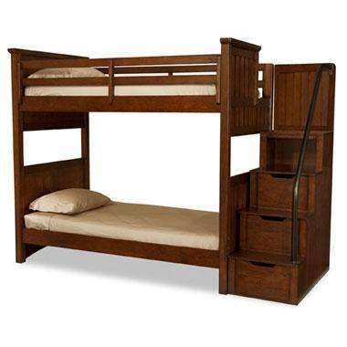 Boys Bedroom Furniture Cody Boys Bedroom Twin Over Twin Bunk Bed With Storage Steps