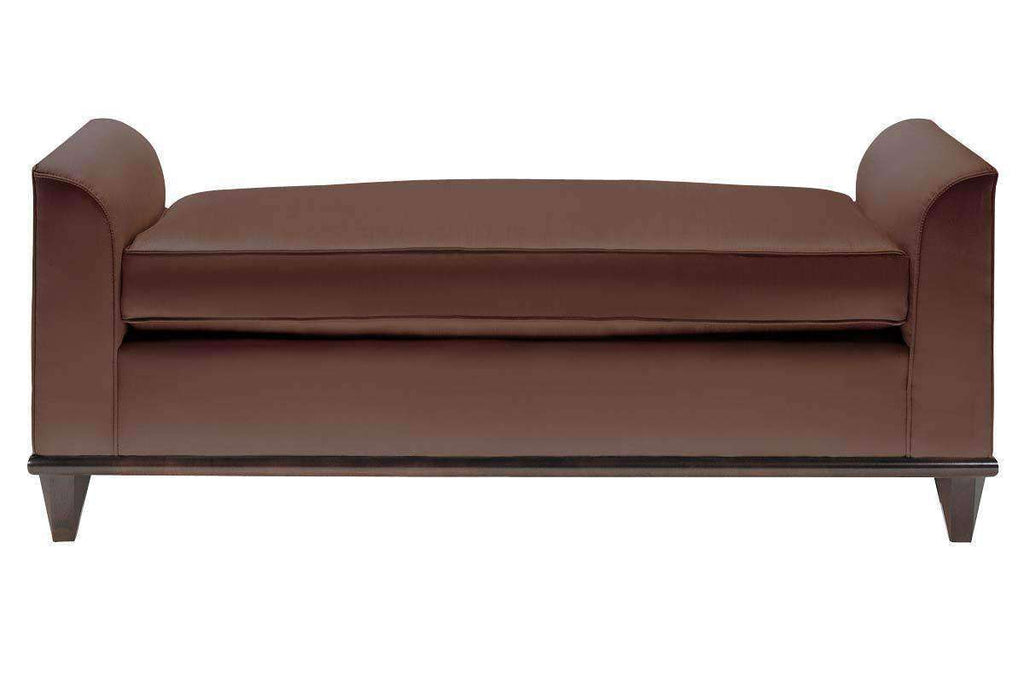 Braxton Leather Upholstered Seating Bench