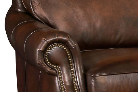 "Brighton 83 Inch ""Quick Ship"" Traditional Top Grain Leather Pillow Back Sofa - OUT OF STOCK UNTIL 9/7/2020"