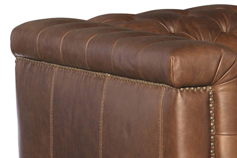 "Bromley Lodge Power ""Quick Ship"" Chesterfield Leather Recliner Chair"