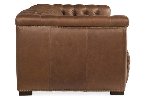 "Bromley Lodge Chesterfield 88 Inch ""Quick Ship"" Wall Hugger Power Leather Reclining Sofa"
