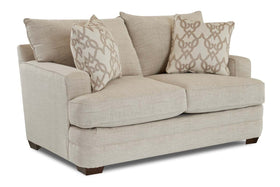 "Bruce ""Custom Value"" Track Arm T-Cushion Two Cushion Fabric Loveseat"