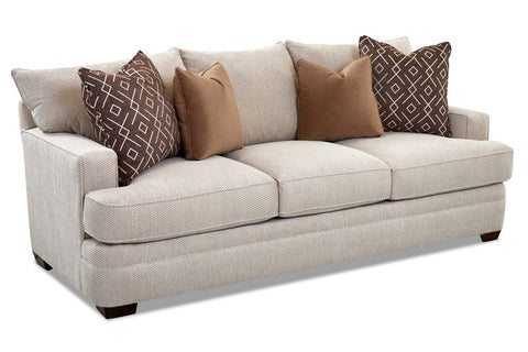 "Bruce ""Custom Value"" 91 Inch Track Arm T-Cushion Three Cushion Fabric Sofa"
