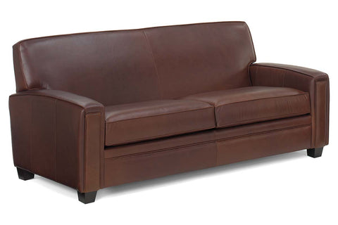 "Burton 80 Inch ""Designer Style"" Leather Tight Back Queen Sleeper Sofa"