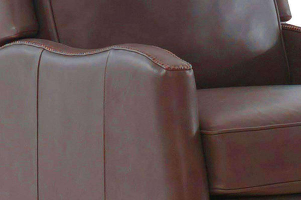 "Caldwell ""Quick Ship"" Pillow Wing Back Power Leather Recliner"