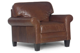 "Calvin ""Designer Style"" Timeless Leather Club Chair"