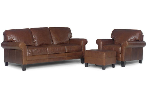 "Calvin ""Designer Style"" Leather Queen Sleeper Set"