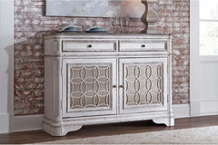 Canterbury Traditional Antique White Storage Dining Buffet