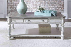 Canterbury Antique White Occasional Table Collection