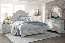 "Canterbury Queen Or King Wood Panel Bed ""Create Your Own Bedroom"" Collection"
