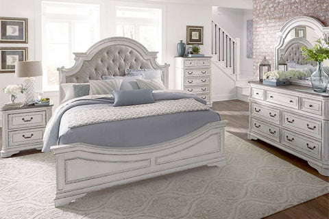"Canterbury Queen Or King Upholstered Tufted Bed ""Create Your Own Bedroom"" Collection"