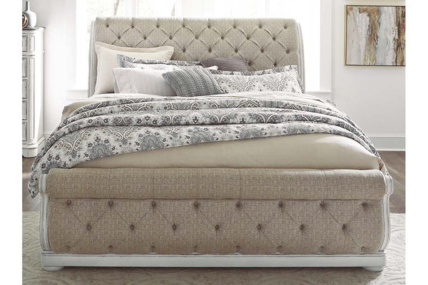 "Canterbury Queen Or King Upholstered Tufted Sleigh Bed ""Create Your Own Bedroom"" Collection"