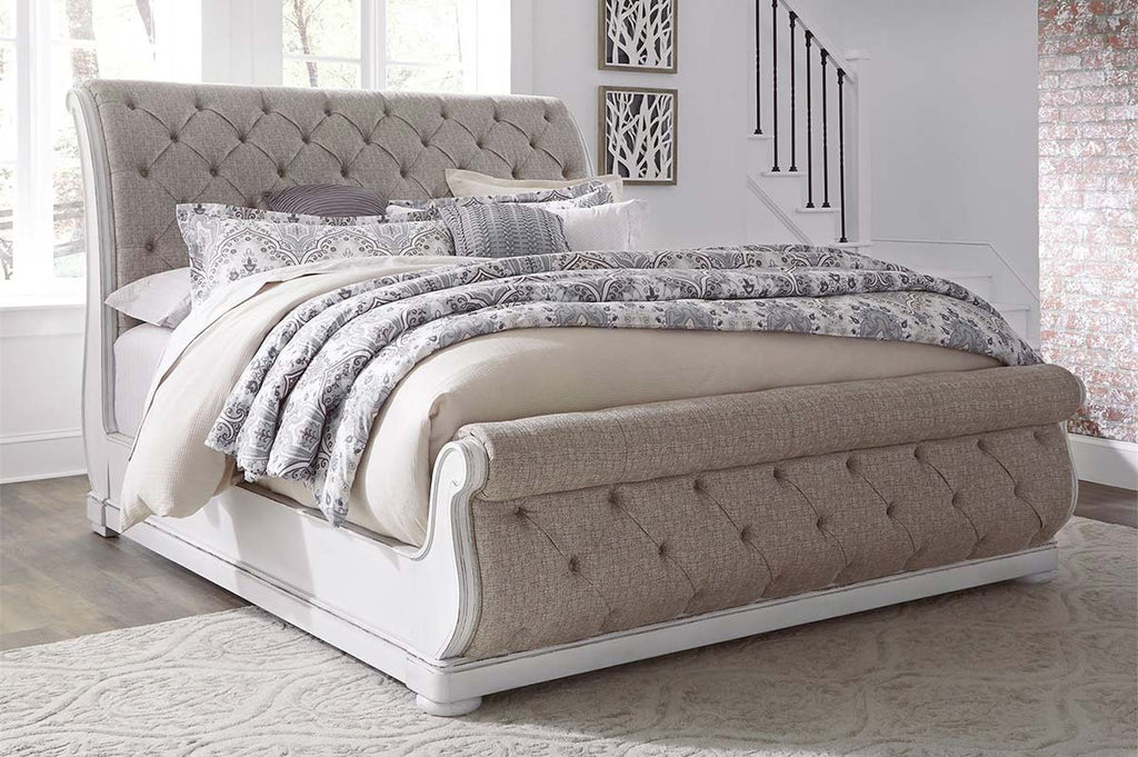 Canterbury Queen Or King Upholstered Tufted Sleigh Bed Create Your Ow