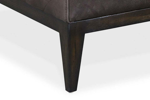 "Carey ""Quick Ship"" Transitional Leather Channel Back Accent Chair"