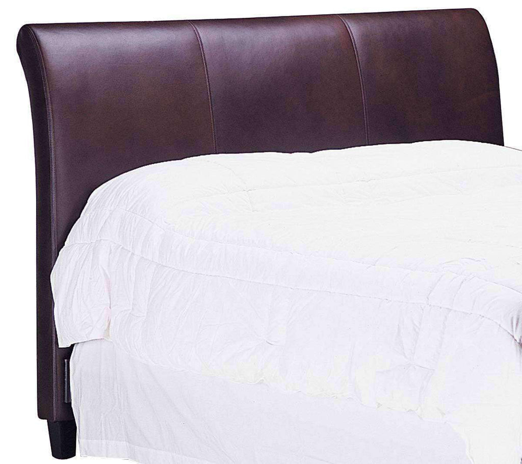 Amazing Carlton Designer Style Leather Upholstered Sleigh Headboard Bralicious Painted Fabric Chair Ideas Braliciousco