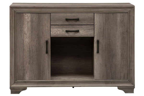 Carson Transitional Door Storage Buffet Server In Greystone Finish