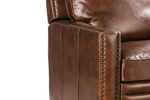 "Cassidy ""Quick Ship"" Modern Track Arm Leather Club Chair Recliner (OUT OF STOCK UNTIL 8/9/20)"