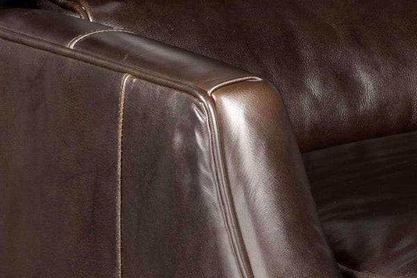 "Chairs And Recliner Adams ""Quick Ship"" Transitional Leather Bustle Back Recliner"
