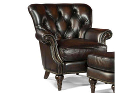 "Chairs And Recliner Alessandro ""Quick Ship"" Tufted Leather Accent Chair"