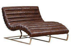 Chairs And Recliner Axel Double Leather Chaise Lounge Chair