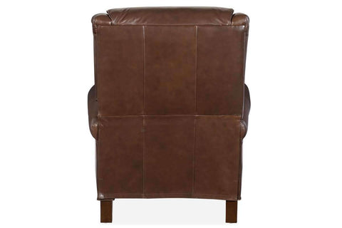 "Chairs And Recliner Brockman ""Quick Ship"" Traditional Pillow Back Leather Recliner"
