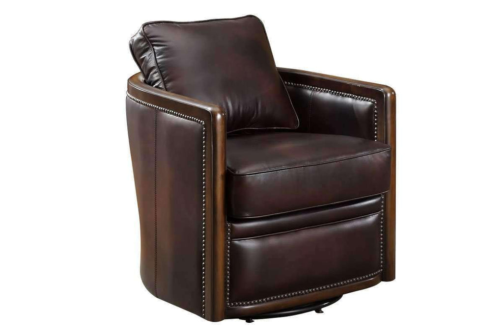 Chairs And Recliner Burnett 360 Degree Swivel Leather Tub Chair ...