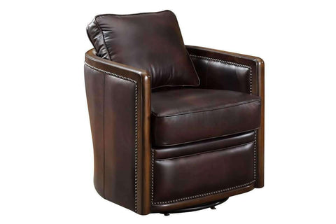 Chairs And Recliner Burnett 360 Degree Swivel Leather Tub Chair