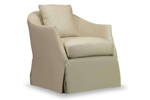 "Chairs And Recliner Chandra ""Quick Ship"" Slipcovered Swivel Accent Chair"