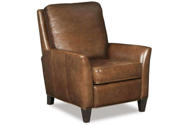 "Chairs And Recliner Christian ""Quick Ship"" Wing Arm Transitional Leather Recliner"